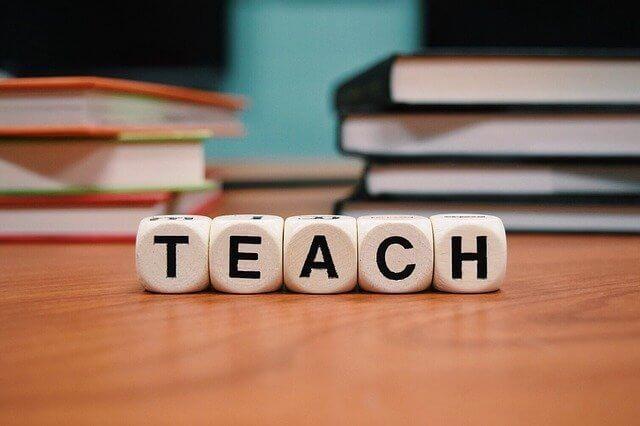 Teach written on blocks