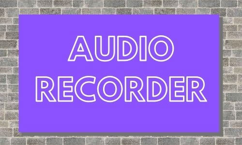 Audio recorder for English class