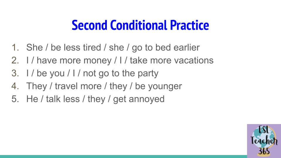 Second Conditional Practice