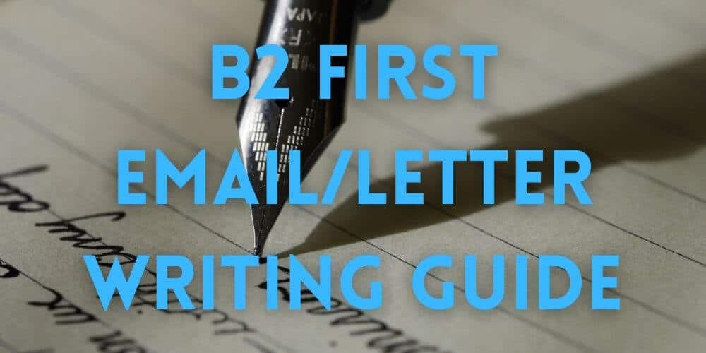 B2 First email letter writing guide
