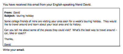 B2 First email sample task