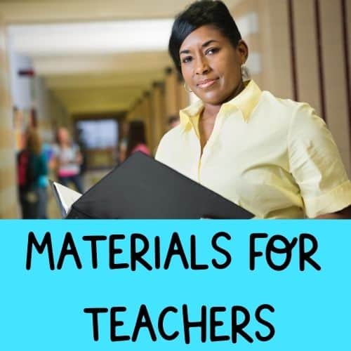 Materials for Teachers