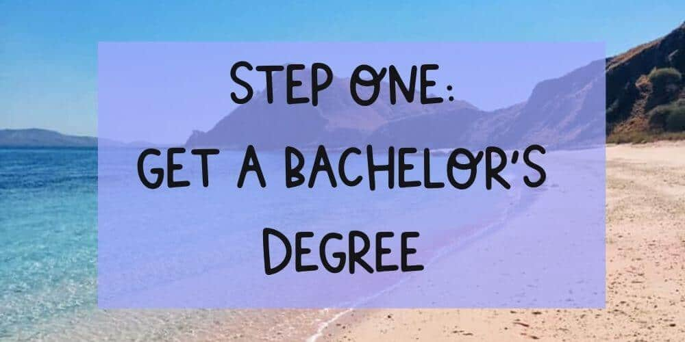 Get a Bachelor's degree to teach English Abroad