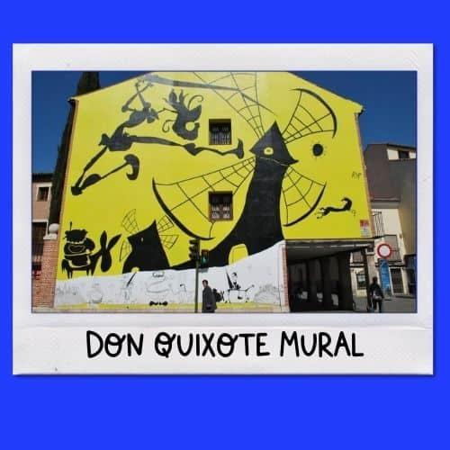 Don Quixote mural in Alcala de Henares