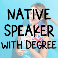 Teach English abroad as a native speaker with a degree